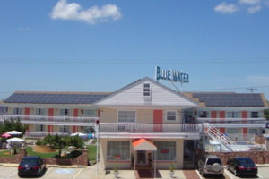Front View of Blue Water motel