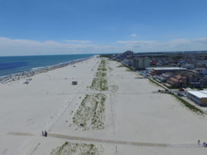 Aerial View of The Wildwood Crest Beach